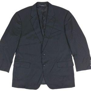 Brooks Brothers Madison Wool Suit Jacket Black 46r